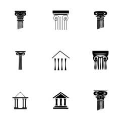 Vector coloumn icons set