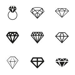 Vector diamond icons set