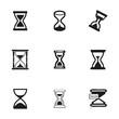 Vector hourglass icons set