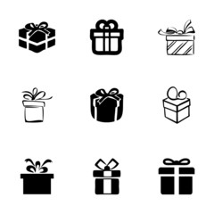 Vector gift  icons set