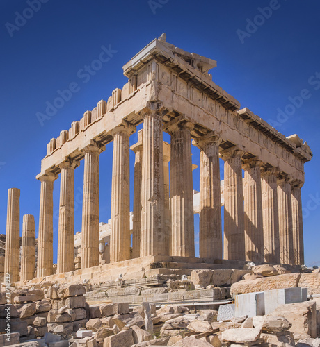 Staande foto Athene Parthenon temple on the Acropolis of Athens,Greece