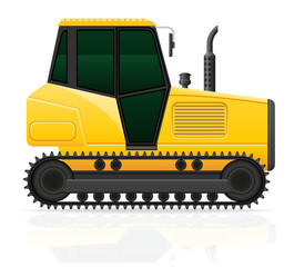 caterpillar tractor vector illustration isolated on white backgr