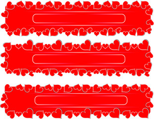 love red hearts valentine