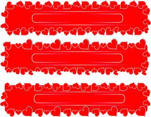 love red hearts valentine
