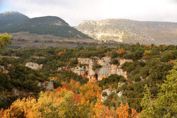 cañon del rio ebro en otoño