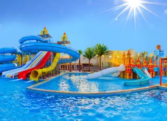 Water park in Sunny Mediterranean