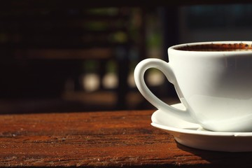 A cup of delicious coffee.