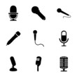 Vector microphone icons set - 73783590