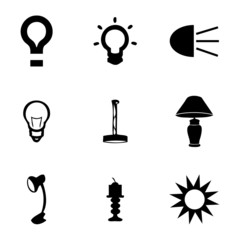 Vector light icons set