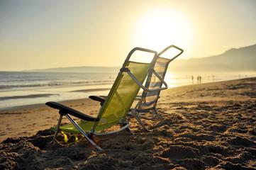 Sillas de Playa,  Ensenada de Bolonia, Tarifa, España