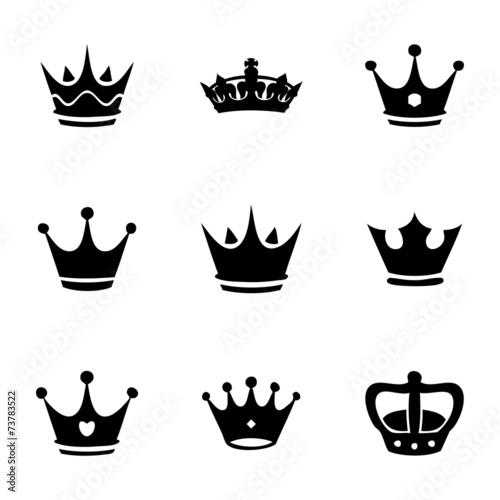 Vector crown icons set - 73783522