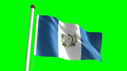 Guatemalan flag (seamless & green screen)