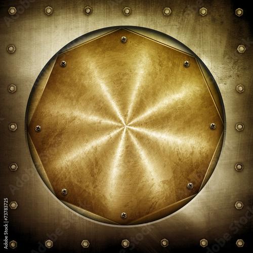 golden metal background - 73783725