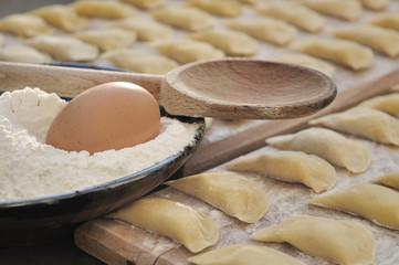 œuf et farine pour ravolis