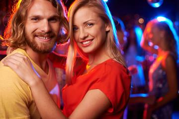 Couple at nightclub