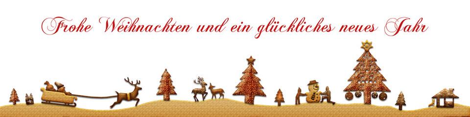 cb14 ChristmasBanner - Kekse - Frohe Weihnachten - 4zu1 g2636
