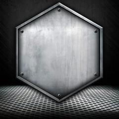 shield pattern metal background
