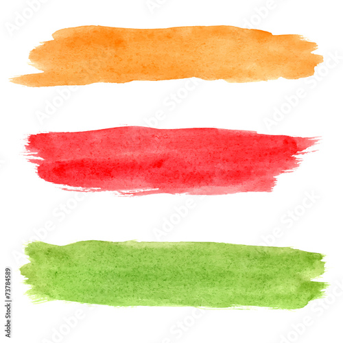 Colorful vector watercolor brush strokes - 73784589