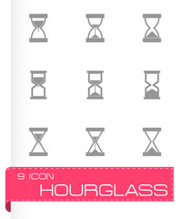 Vector hourglass icon set