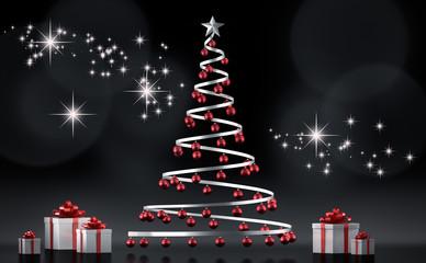 Stilisierter Weihnachtsbaum mit Geschenken
