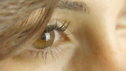 Vintage girl eye detail ECU CC