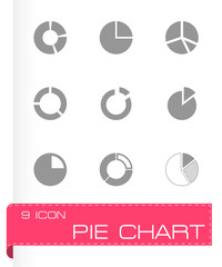 Vector pie chart icon set