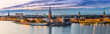 Leinwanddruck Bild - Scenic summer night panorama of  Stockholm, Sweden