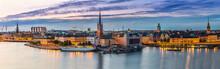 "Постер, картина, фотообои ""Scenic summer night panorama of Stockholm, Sweden"""