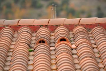 salida de ventilacion en un tejado