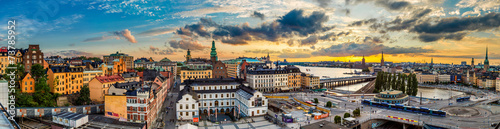 Papiers peints Scandinavie Scenic summer night panorama of Stockholm, Sweden