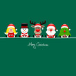 Angel, Snowman, Rudolph, Santa & Tree Gift Green