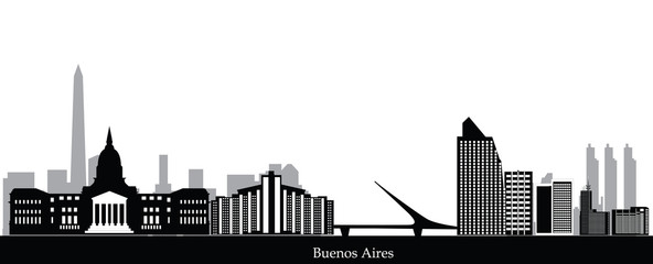 buenos aires city skyline