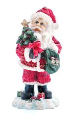 Weihnachtsmann mit Christbaum