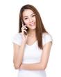Woman talk to phone