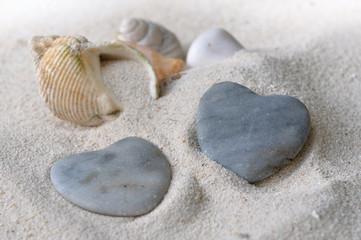 galets en forme de cœur