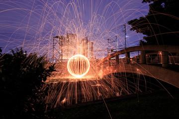 Steel Wool Fire