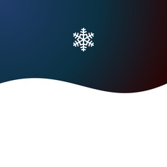 Christmas Abstract Background with Snowflake. Vector