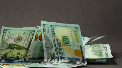 falling euro and dollars