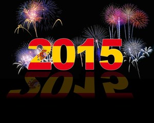 Spain, New year 2015.
