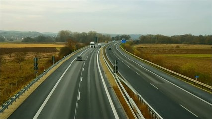 Close-up Video Autobahn Geschwindigkeit