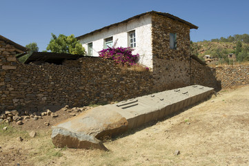 UNESCO World Heritage obelisks of Aksum, Ethiopia