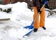 Leinwanddruck Bild - Schnee schieben