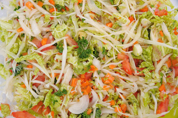 cabbage salad close-up