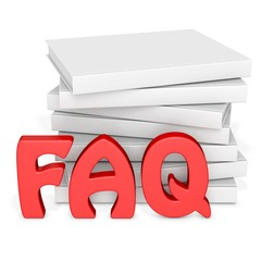 3d frequently asked questions with blank books