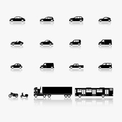 Image of cars and motorcycles.