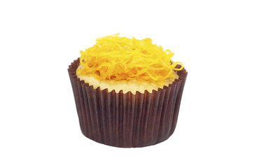 Cupcake with golden threads