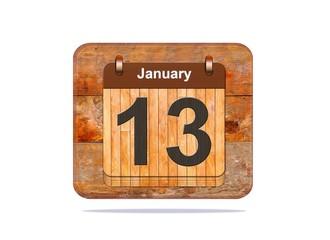 January 13.
