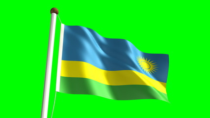 Rwandan flag (seamless & green screen)