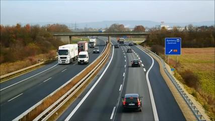 Timelapse Autobahn Geschwindigkeit