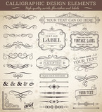 Vector Vintage Design Elements poster